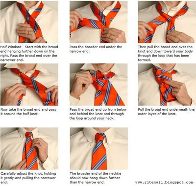 Bscs home page making half windsor tie knot ccuart Images